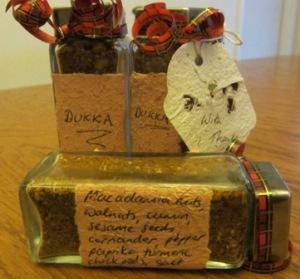 Dukka, with handmade paper labels